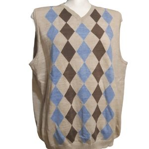 Tommy Bahama | vneck diamond knit vest